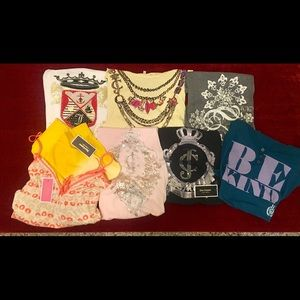 Juicy Couture Lot Bundle collection tee shorts top